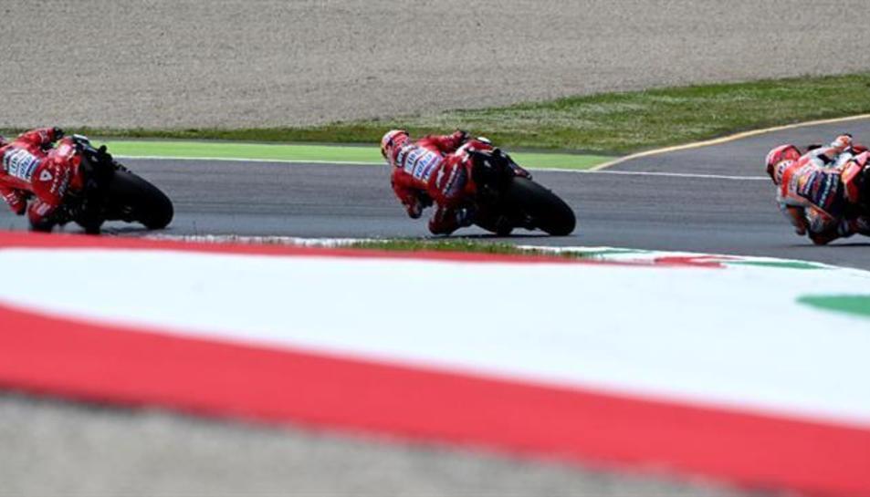 Imatge d'arxiu d'una prova de Moto GP.
