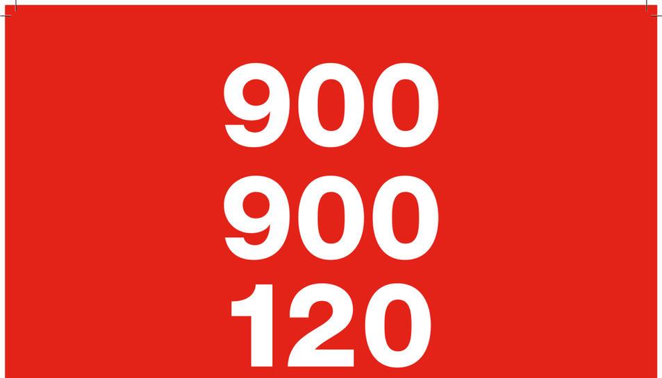 Cartell de la campanya publicitària de l'ICD perquè es conegui el telèfon d'assistència a víctimes de violència masclista.