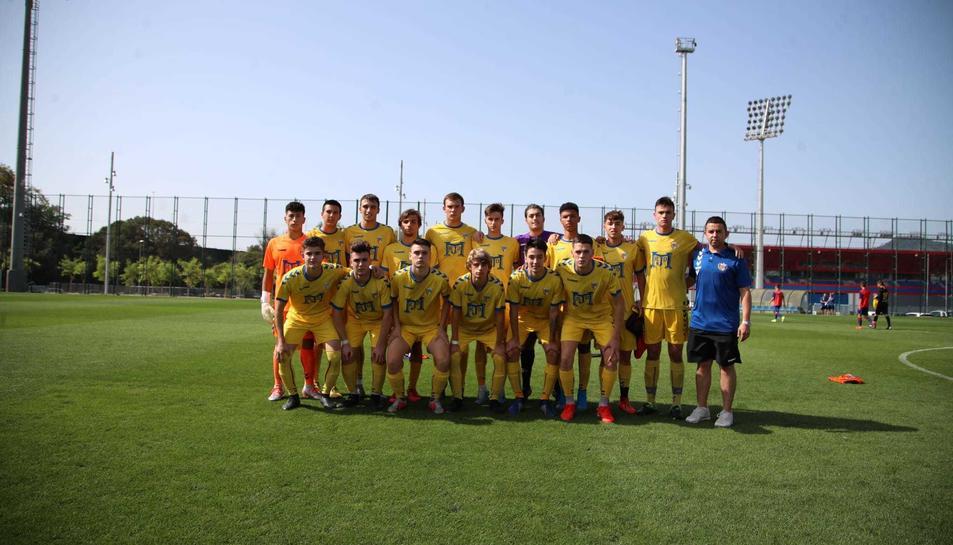 Un onze del juvenil del CF Vilaseca, que juga en la categoria Nacional.