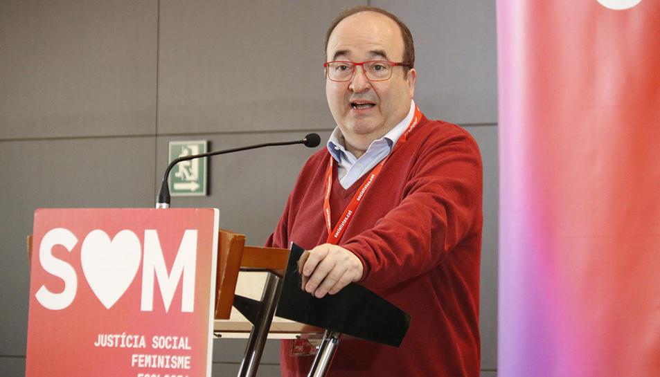 El primer secretari del PSC, Miquel Iceta, en un acte del partit el 29 de febrer de 2020.