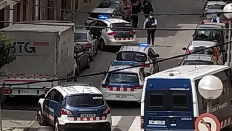 Imatge del dispositiu policial.