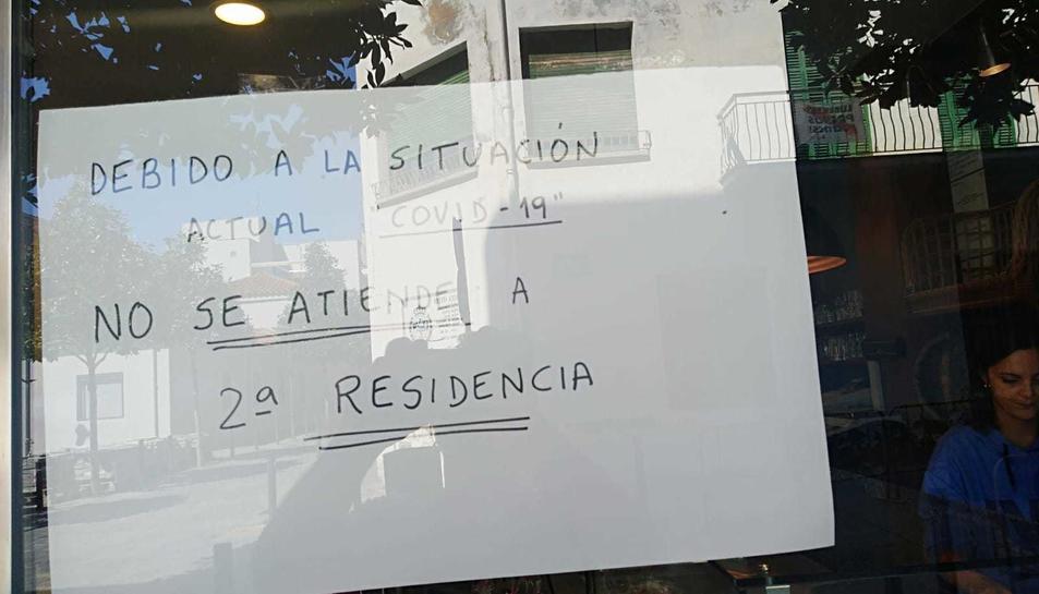 El cartell al forn de Cambrils