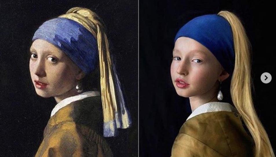 La jove de la perla de Vermeer és un dels quadres més replicats en aquest repte.