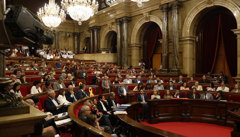 Pla general de l'hemicicle del Parlament