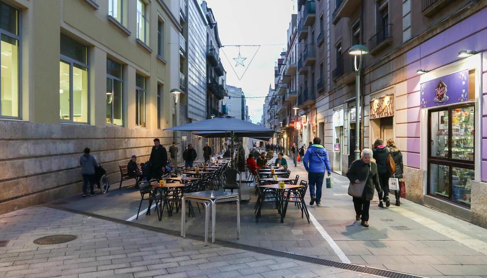 Imatge d'arxiu de les terrasses de bars ubicats als voltants de la plaça Corsini.
