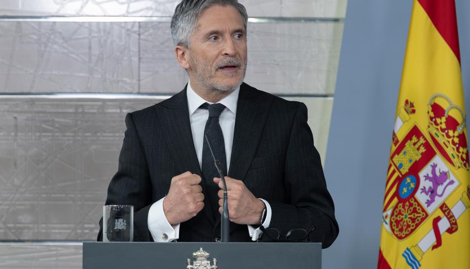 El ministre Fernando Grande-Marlaska durant una compareixença.
