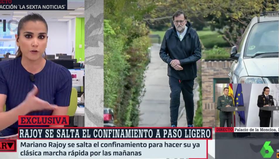 Imatge de Rajoy emesa per la Sexta.