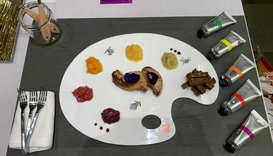 El plat LGTBI-Foie amb el qual va aconseguir la cullera de fusta.