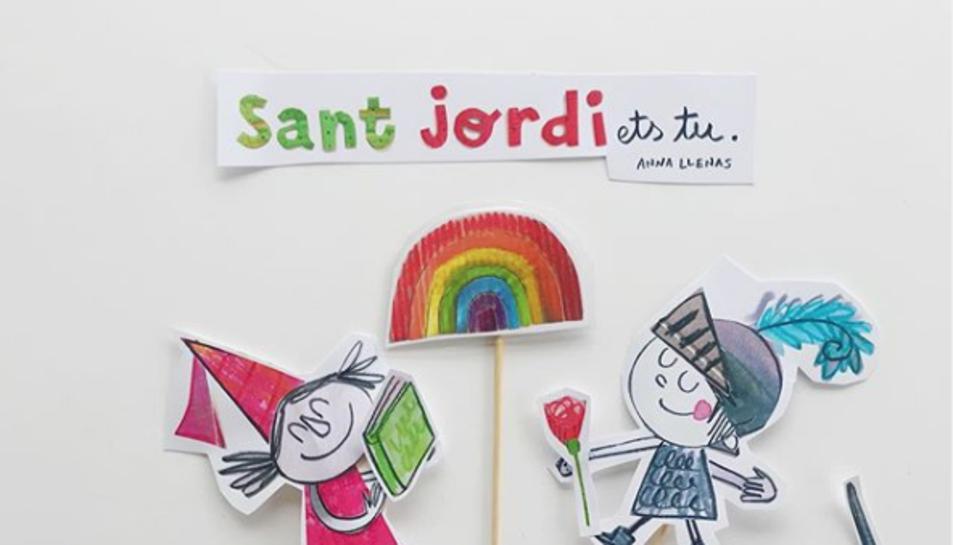 Imatge de l'Instagram de l'escriptora de contes infantils Anna Llenas.