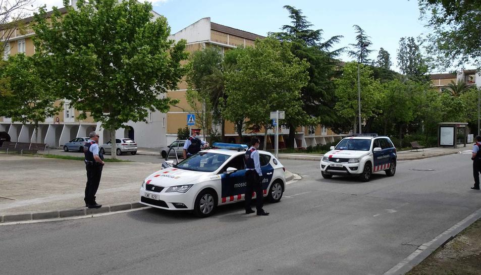 Un dels controls policials que els Mossos d'Esquadra han realitzat durant el confinament a Constantí.