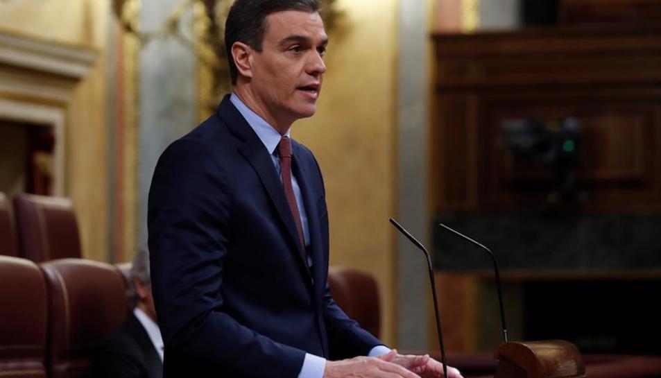 El president del govern espanyol, Pedro Sánchez, a la sessió del Congrés dels Diputats.