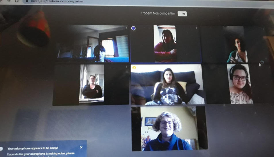 Captura de pantalla d'una de les classes virtuals per dones embarassades que s'han començat a fer a l'Ebre.