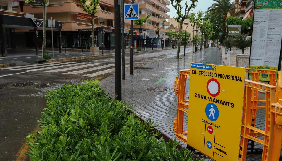 Tram del carrer Barcelona que es tallarà al transit cada tarda durant tot l'estiu.