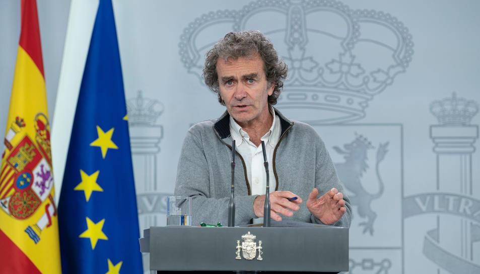 El responsable de Sanitat, Fernando Simón, durant la roda de premsa.