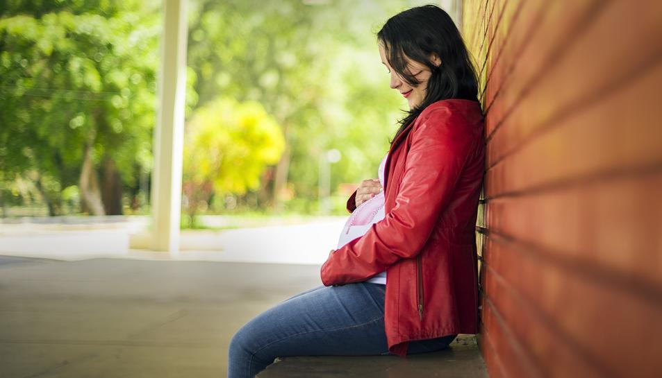 Imatge d'una dona embarassada.