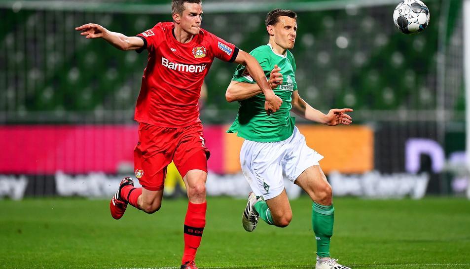 Un moment del Werder Bremen-Bayer Leverkusen d'aquest passat cap de setmana.