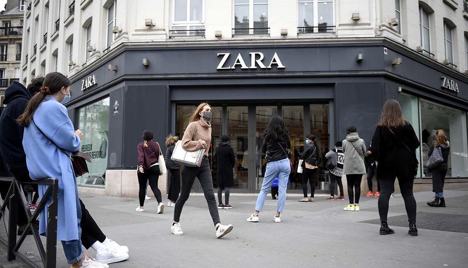 Imatge d'arxiu d'un establiment de Zara, prtanyent al grup Inditex.