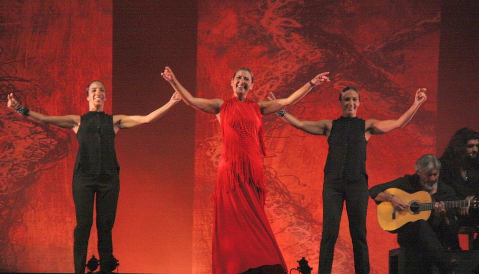 Sara Baras, en un moment de la seva actuació al Festival Internacional de Música de Cambrils l'any passat.