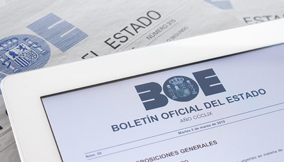Consulta les novetats del BOE publicat avui dissabte 23 de maig