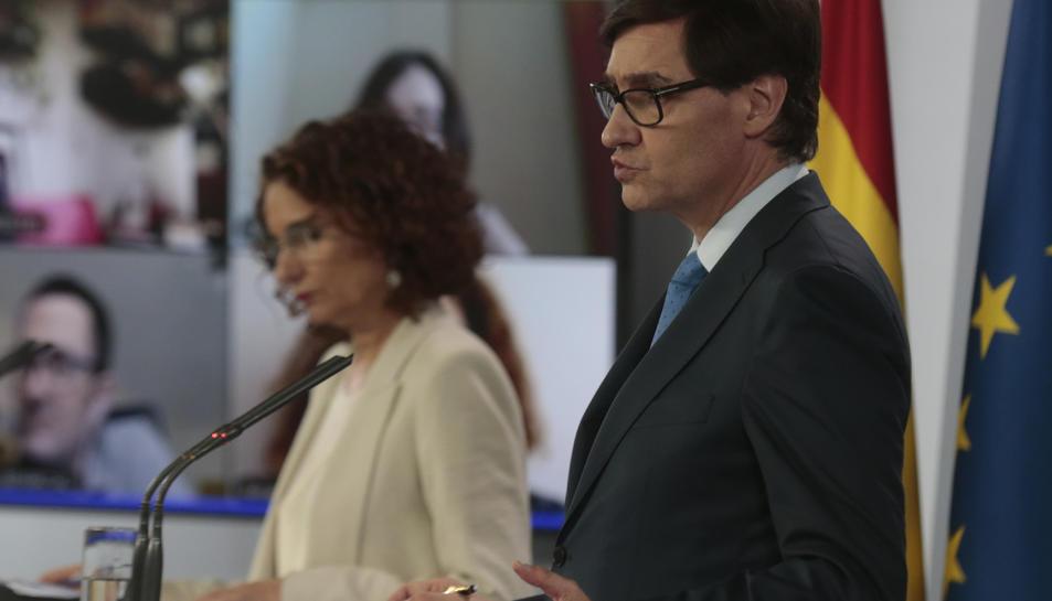 El ministre de Sanitat, Salvador Illa, en roda de premsa
