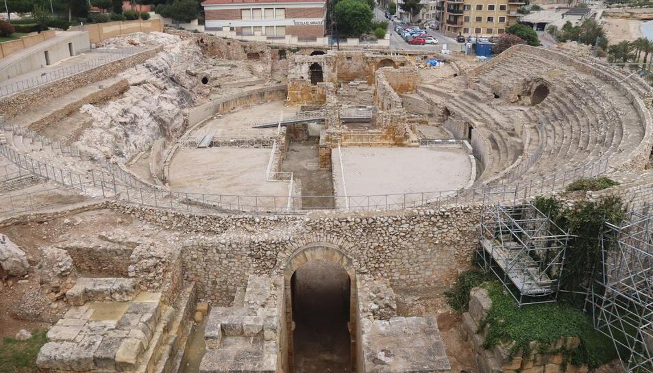 L'amfiteatre de Tarragona, el primer dia de la reobertura.