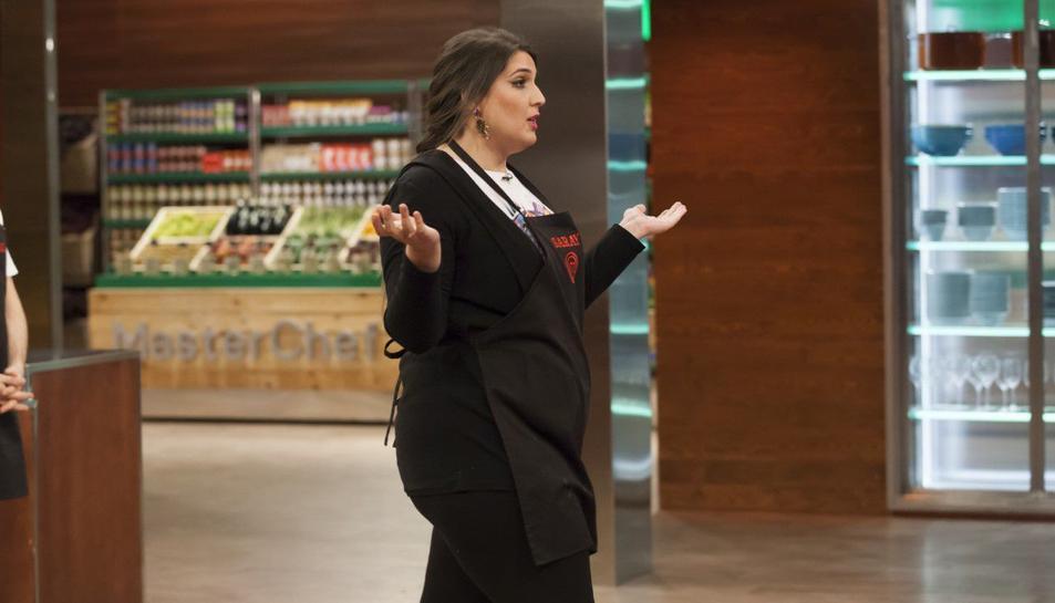 Imatge de la partiipació de Saray en el programa de cuina, Master Chef.