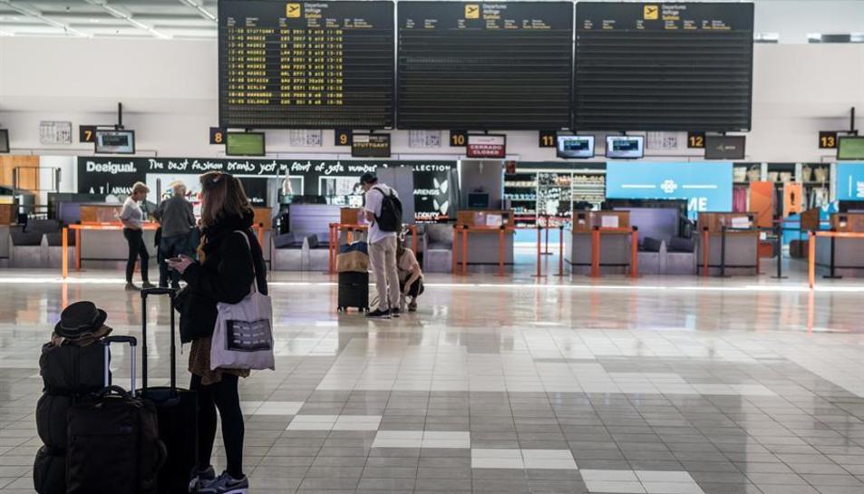 La Terminal T1 nacional-internacional de l'Aeroport César Manrique de Lanzarote.
