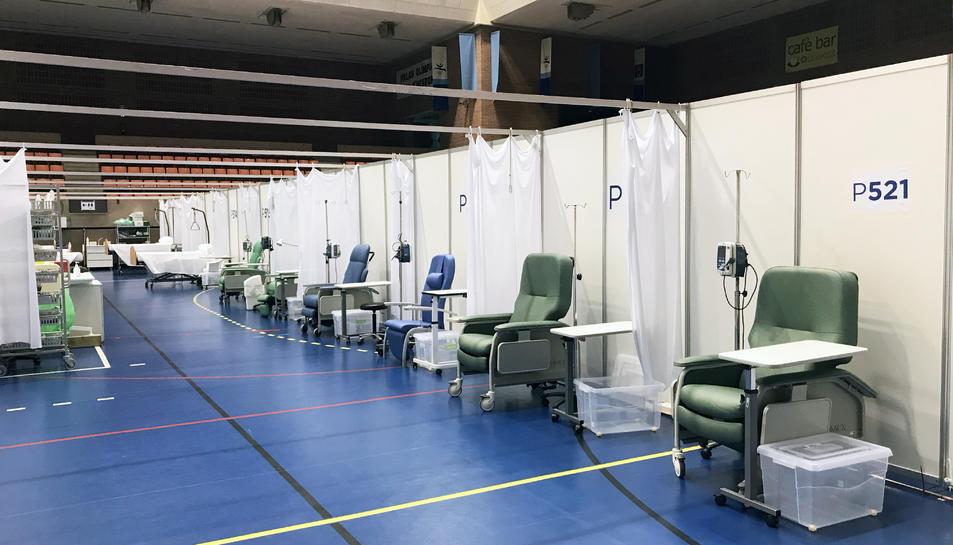 Imatge del nou hospital de dia de Vall d'Hebron, que abans s'utilitzava per a pacients amb coronavirus.