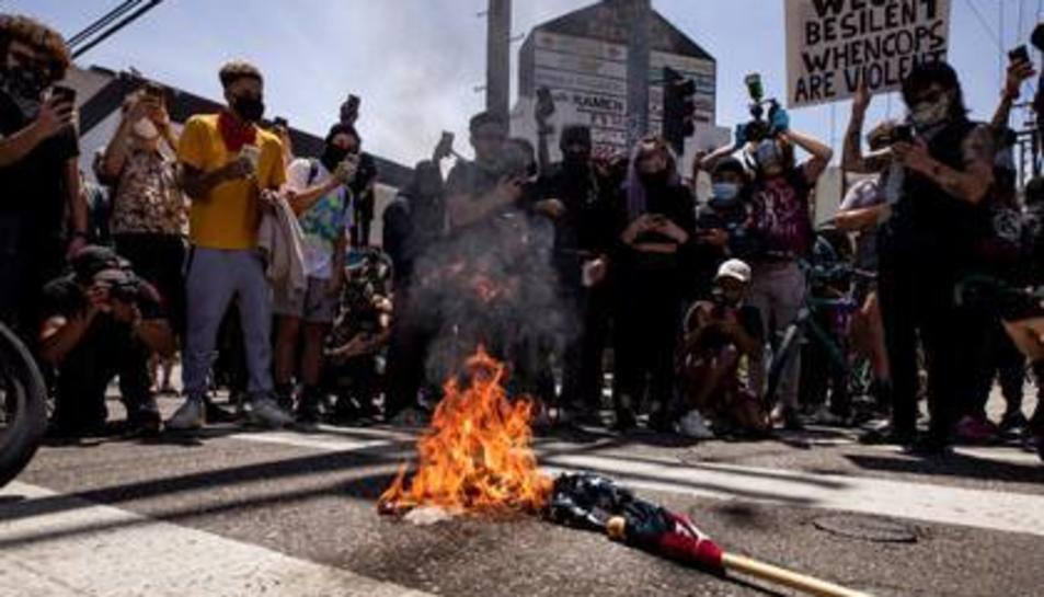 Imatge d'uns manifestants