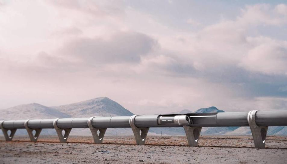 Render de Hyperloop.