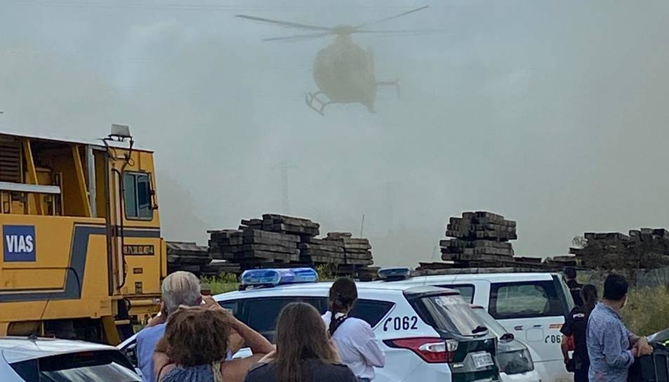 Els serveis d'emergència arribant al lloc de l'accident.