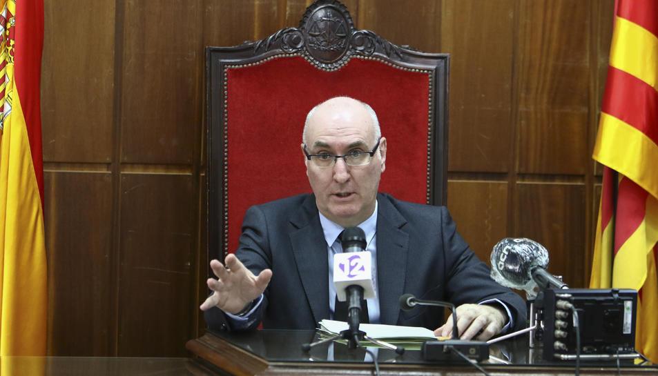 Perarnau analitzant el futur pròxim dels jutjats de Tarragona.
