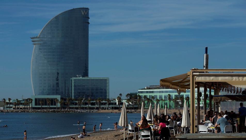 Imatge de la platja de la Barceloneta