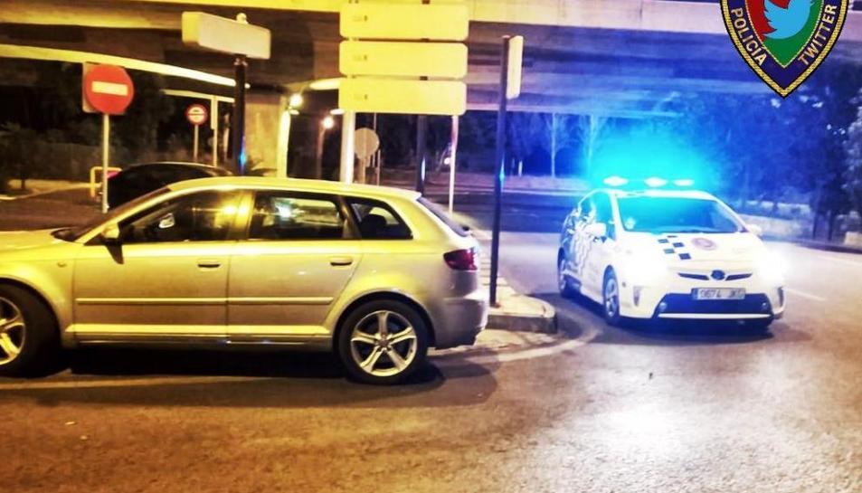 Un cotxe de la policia de Granada
