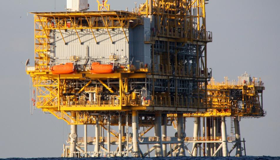 Imatge d'arxiu de la plataforma marina del projecte Castor