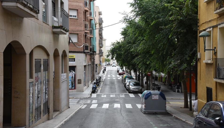 Estat actual del carrer Orosi.