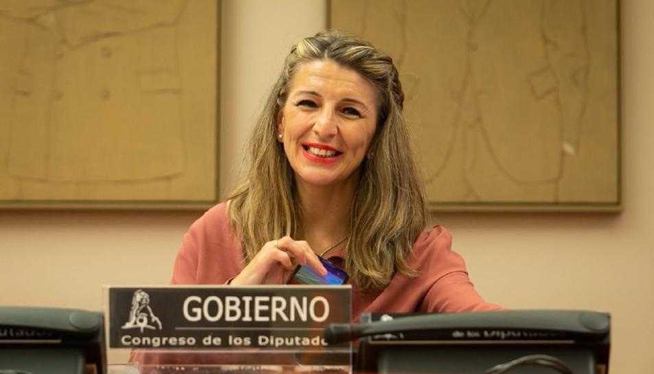 La ministra de Treball, Yolanda Díaz, en una imatge d'arxiu.