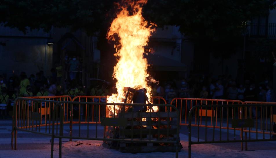 Imatge d'una foguera a Vila-rodona.