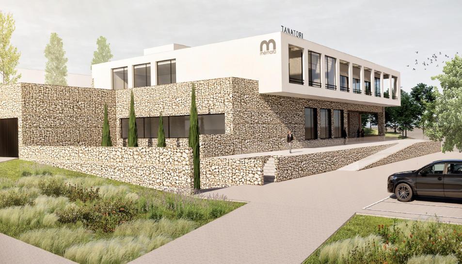 Façana del futur tanatori de Tarragona.