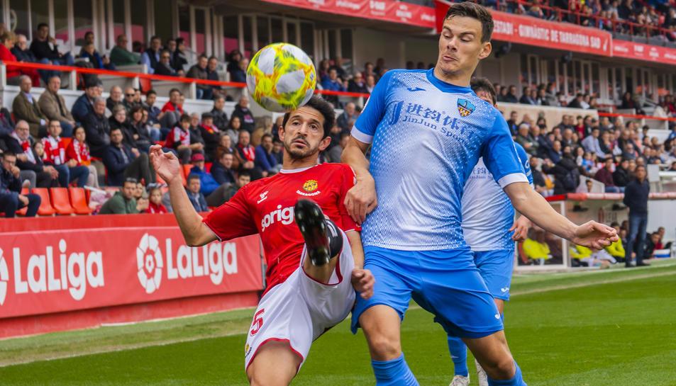 Jonathan Pereira va ser una de les grans decepcions de la passada temporada al Nàstic.