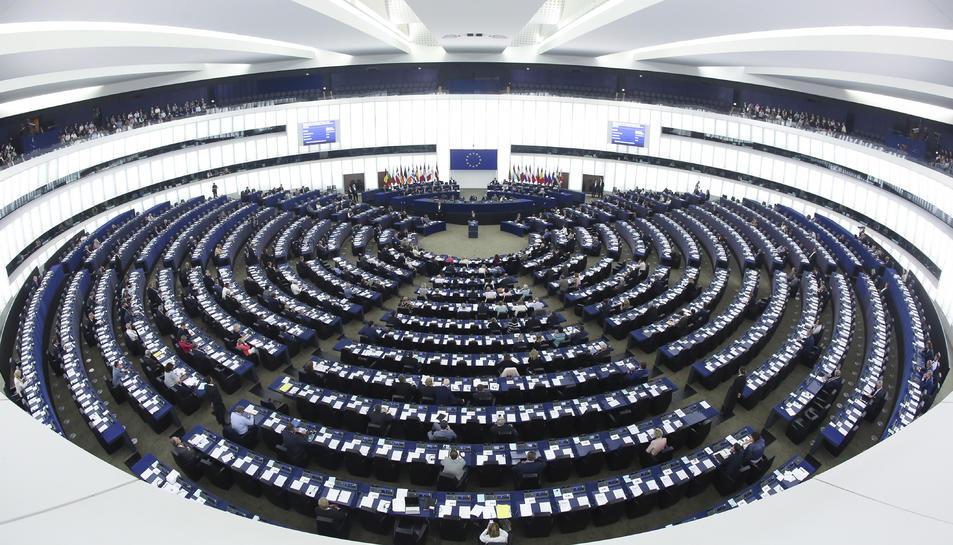 Gran pla general del ple del Parlament Europeu a Estrasburg.
