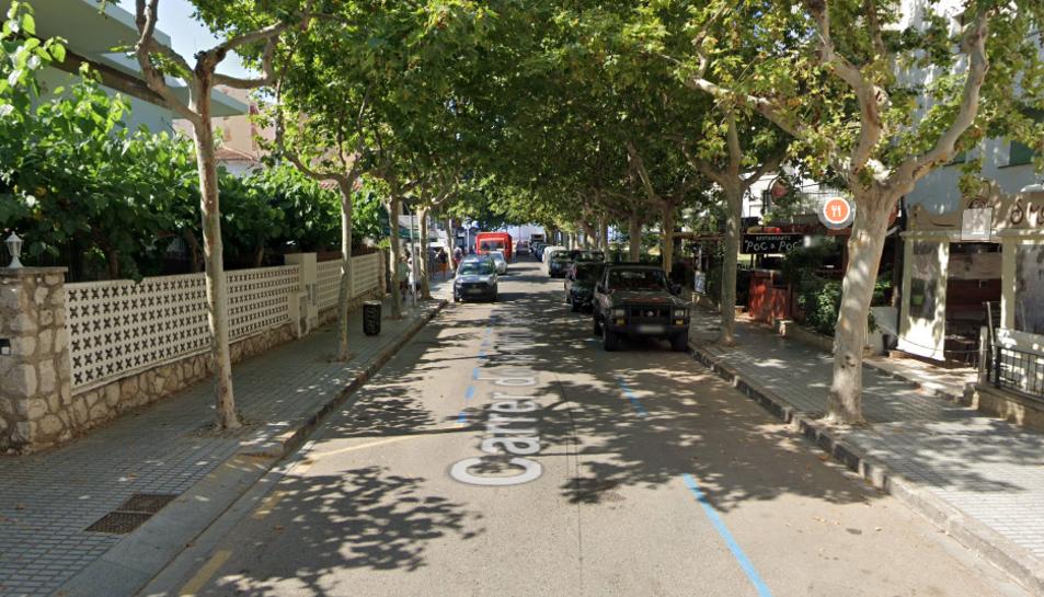 Panoràmica del carrer Verge del Pilar.