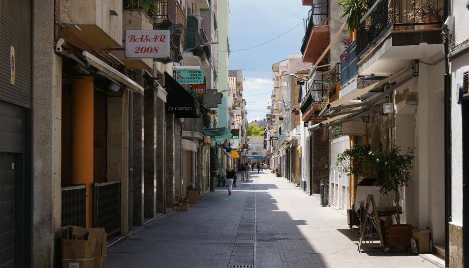 Un carrer de Calafell.