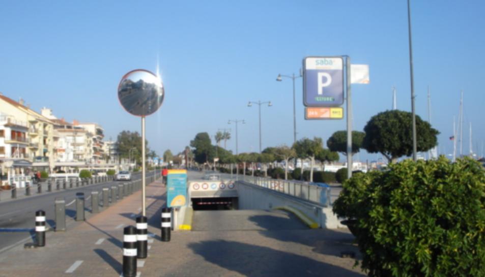 El pàrquing Saba de Cambrils.