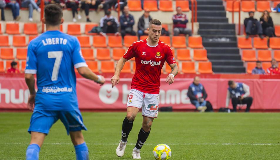 Juan Rodríguez, durant un partit amb el Nàstic de la passada temporada.