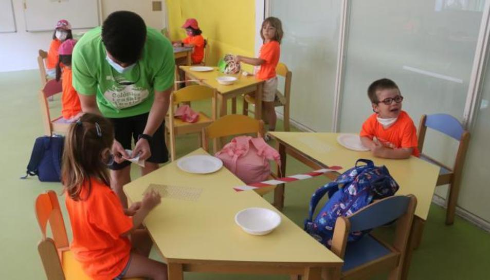 Casal d'estiu d'una escuela de Barcelona, el passat mes de juny.