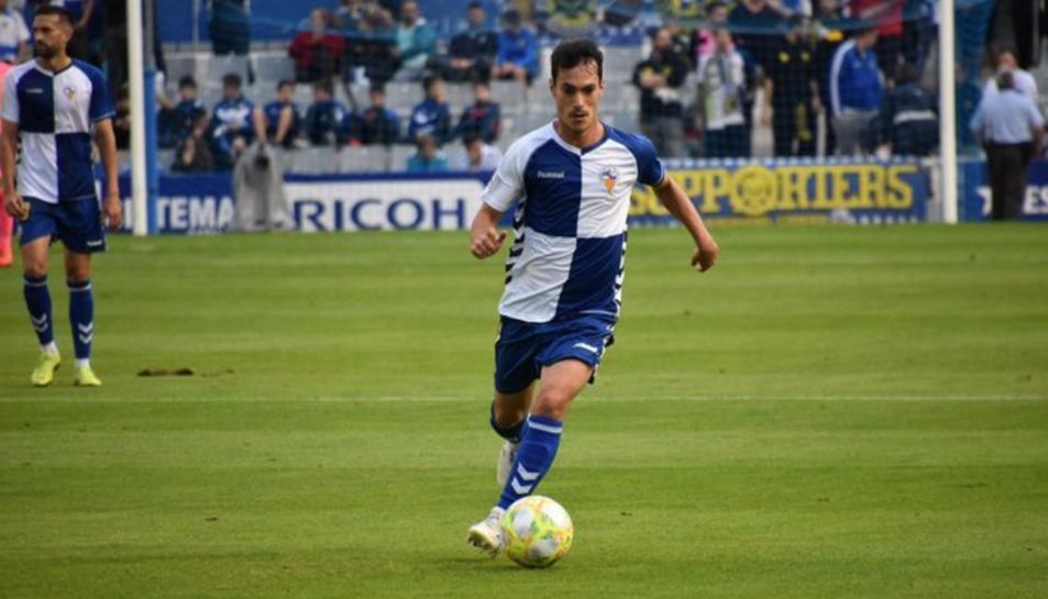 Ozkoidi en un partit amb el CE Sabadell aquesta temporada.