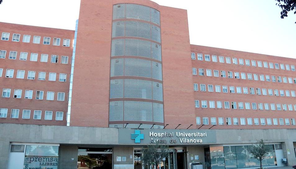 Imatge d'arxiu d ela façana de l'hospital Arnau de Vilanova de Lleida.