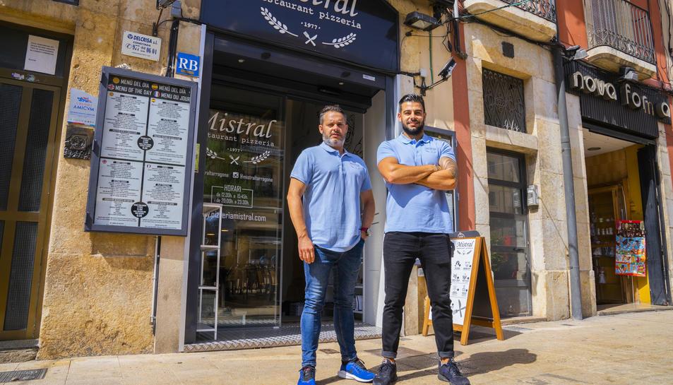 David Casarramona i Javier Martínez, copropietaris de la Pizzeria Mistral.