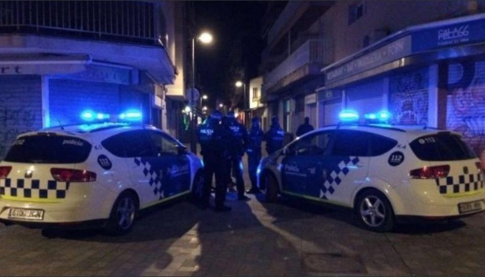 Imatge del control al carrer Monturiol.